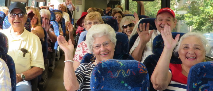 Seniors on a Bus Trip in July 2014